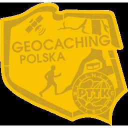 Odznaka PTTK Geocaching Polska złota