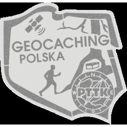 Odznaka PTTK Geocaching Polska srebrna